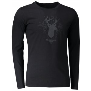 Pánské tričko s dlouhým rukávem HANNAH SKILL ANTHRACITE PRINT 1