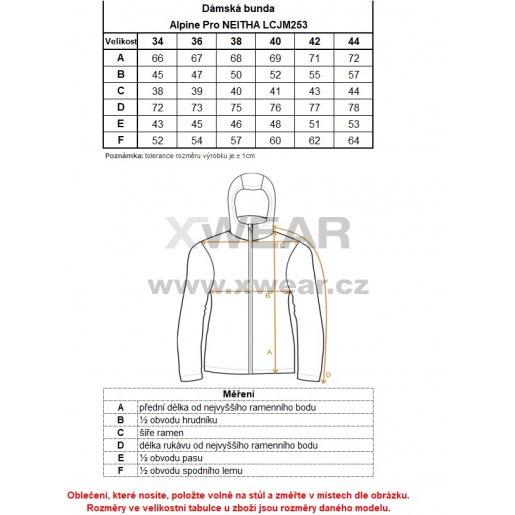 Dámská péřová bunda ALPINE PRO NEITHA LJCM289 TMAVĚ MODRÁ