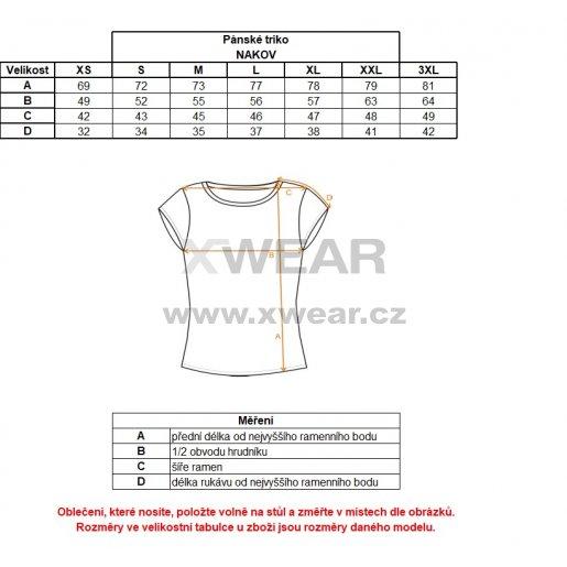 Pánské triko ALPINE PRO NAKOV MTSM381 MODRÁ