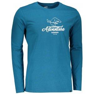 Pánské tričko s dlouhým rukávem HANNAH SKILL BLUE SAPPHIRE PRINT 2