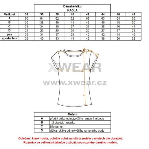 Dámské triko s krátkým rukávem ALTISPORT KAOLA ALLS18035 MELÍR