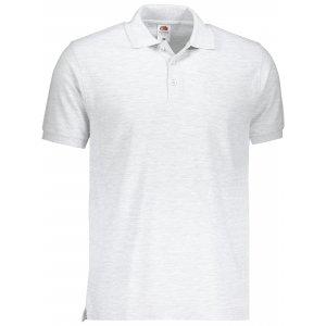 Pánské triko s límečkem FRUIT OF THE LOOM PREMIUM POLO HEATHER GREY