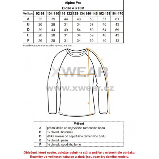 Dětské triko ALPINE PRO DIDILO 4 KTSM119 TMAVĚ MODRÁ