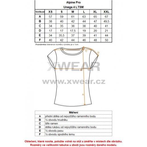 Dámské triko ALPINE PRO UNEGA 4 LTSM340 SVĚTLE MODRÁ