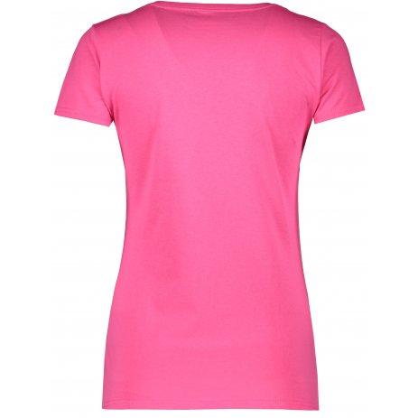 Dámské tričko FRUIT OF THE LOOM LADY FIT V-NECK  FUCHSIA