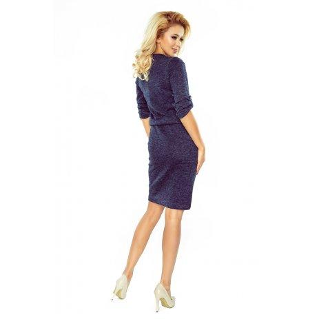 Dámské šaty NUMOCO A161-8 MODRÝ MELÍR