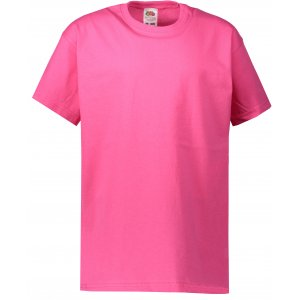 Dětské tričko FRUIT OF THE LOOM VALUEWEIGHT T  FUCHSIA