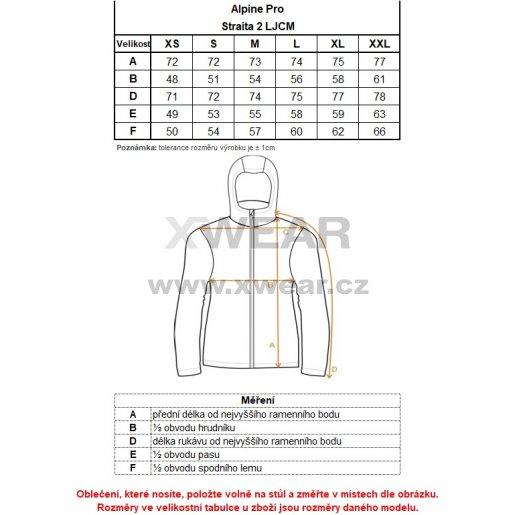 Dámská softshellová bunda ALPINE PRO STRAITA 2 LJCM281 ČERNÁ
