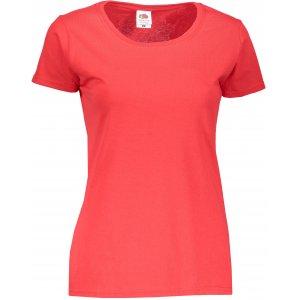 Dámské tričko FRUIT OF THE LOOM ORIGINAL  RED