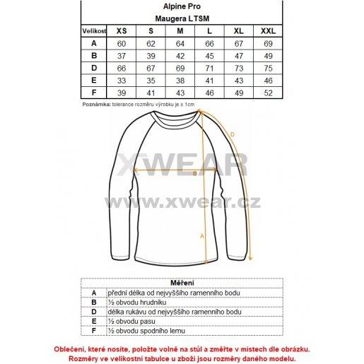 Dámské triko ALPINE PRO MAUGERA LTSM339 MODRÁ