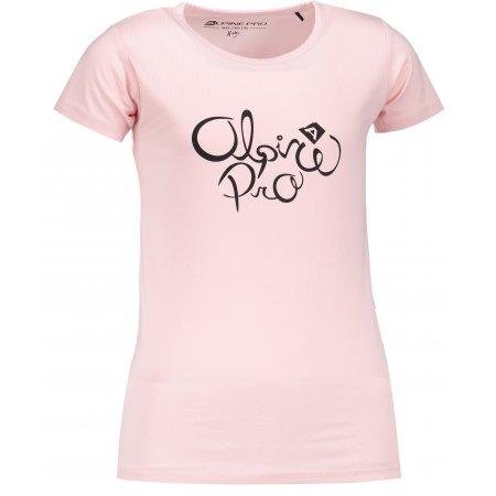Dětské triko ALPINE PRO SHAGO KTSM171 RŮŽOVÁ