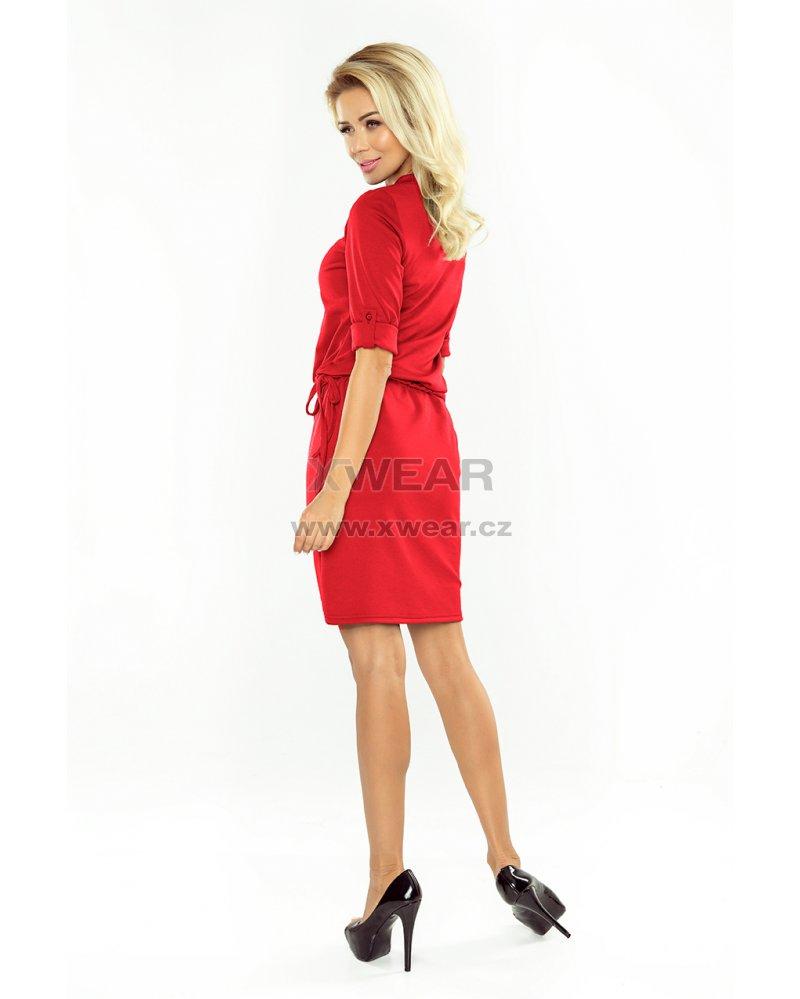 ede9774eb2b4 Dámské šaty NUMOCO A161-11 ČERVENÁ velikost  XL   XWEAR.cz