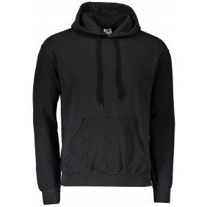 Pánská mikina s kapucí FRUIT OF THE LOOM CLASSIC HOODED SWEAT BLACK