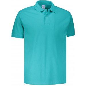 Pánské triko s límečkem JHK POLO REGULAR MAN AQUAMARINE