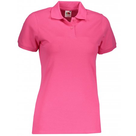 Dámské triko s límečkem FRUIT OF THE LOOM FIT POLO FUCHSIA