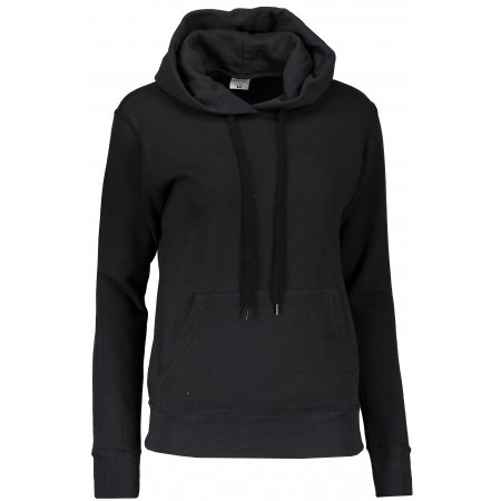 Dámská mikina s kapucí FRUIT OF THE LOOM CLASSIC SWEAT BLACK