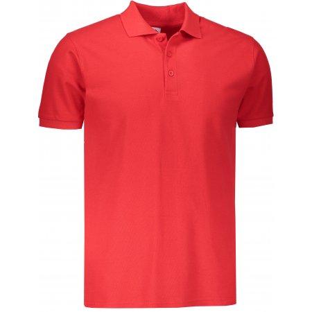 Pánské triko s límečkem FRUIT OF THE LOOM PREMIUM POLO RED