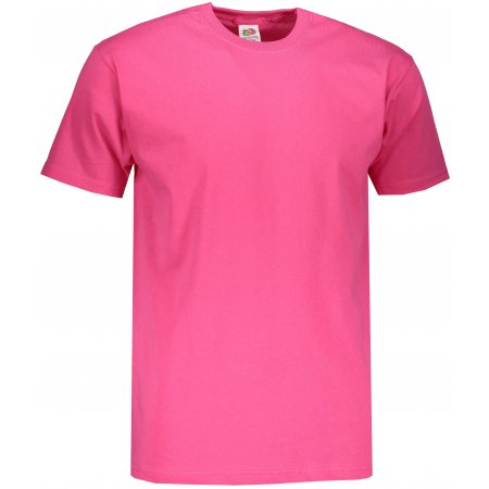 Pánské tričko FRUIT OF THE LOOM VALUEWEIGHT T FUCHSIA