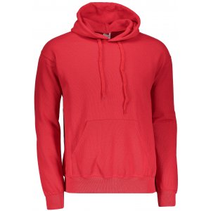 Pánská mikina s kapucí FRUIT OF THE LOOM CLASSIC HOODED SWEAT RED