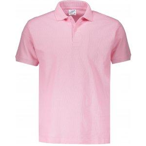Pánské triko s límečkem JHK POLO REGULAR MAN PINK