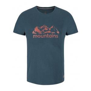 Pánské triko s krátkým rukávem LOAP BUSON CLM1884 MODRÁ