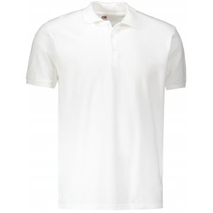 Pánské triko s límečkem FRUIT OF THE LOOM PREMIUM POLO WHITE