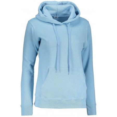 Dámská mikina s kapucí FRUIT OF THE LOOM CLASSIC SWEAT SKY BLUE