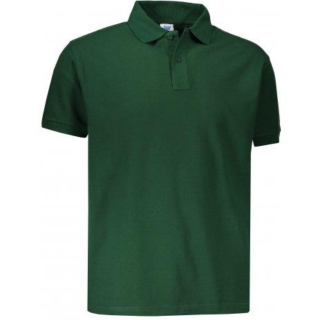 Pánské triko s límečkem JHK POLO REGULAR MAN BOTTLE GREEN