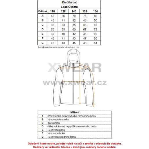 Dívčí zimní kabát LOAP OKSARA L8105 RŮŽOVÁ