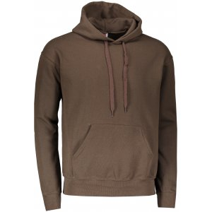 Pánská mikina  s kapucí FRUIT OF THE LOOM CLASSIC HOODED SWEAT CHOCOLATE