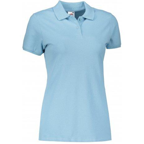 Dámské triko s límečkem FRUIT OF THE LOOM FIT POLO SKY BLUE