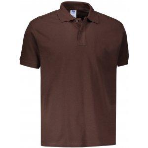 Pánské triko s límečkem JHK POLO REGULAR MAN CHOCOLATE