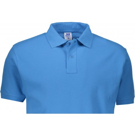 Pánské triko s límečkem JHK POLO REGULAR MAN AZZURE