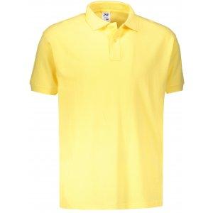 Pánské triko s límečkem JHK POLO REGULAR MAN LIGHT YELLOW