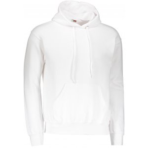 Pánská mikina  s kapucí FRUIT OF THE LOOM CLASSIC HOODED SWEAT WHITE