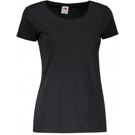 Dámské tričko FRUIT OF THE LOOM LADY FIT VALUEWEIGHT T BLACK