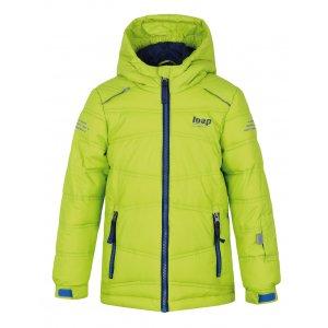 Chlapecká lyžařská bunda LOAP FALDA L8103 SVĚTLE ZELENÁ