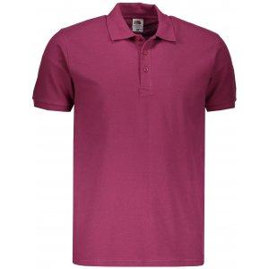 Pánské triko s límečkem FRUIT OF THE LOOM PREMIUM POLO BURGUNDY