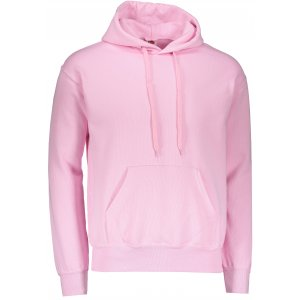 Pánská mikina  s kapucí FRUIT OF THE LOOM CLASSIC HOODED SWEAT LIGHT PINK