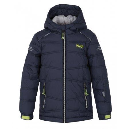 Chlapecká lyžařská bunda LOAP FALDA L8103 TMAVĚ MODRÁ