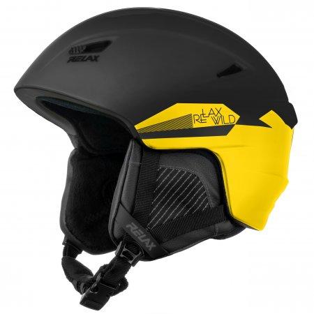 Lyžařská helma RELAX WILD RH17Q BLACK/YELLOW