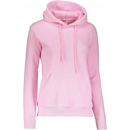 Dámská mikina s kapucí FRUIT OF THE LOOM CLASSIC SWEAT LIGHT PINK