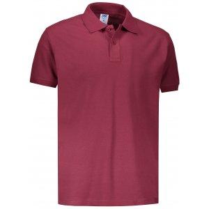 Pánské triko s límečkem JHK POLO REGULAR MAN BURGUNDY
