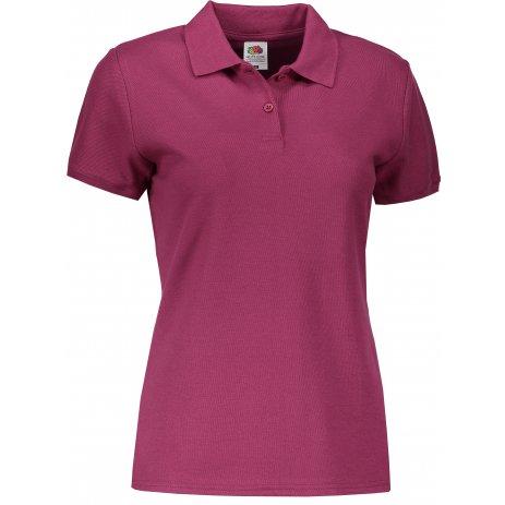 Dámské tričko s límečkem FRUIT OF THE LOOM LADY FIT PREMIUM POLO BURGUNDY