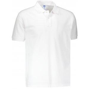 Pánské triko s límečkem JHK POLO REGULAR MAN WHITE