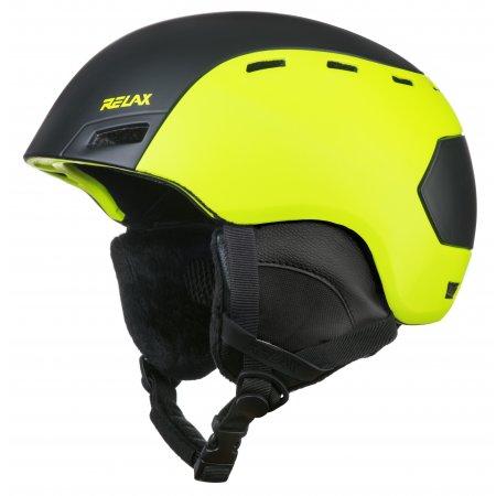 Lyžařská helma RELAX COMBO RH25D BLACK/YELLOW