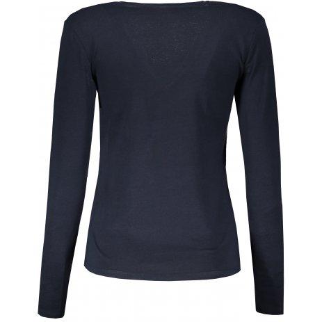 Dámské triko s dlouhým rukávem KARIBAN V-NECK NAVY