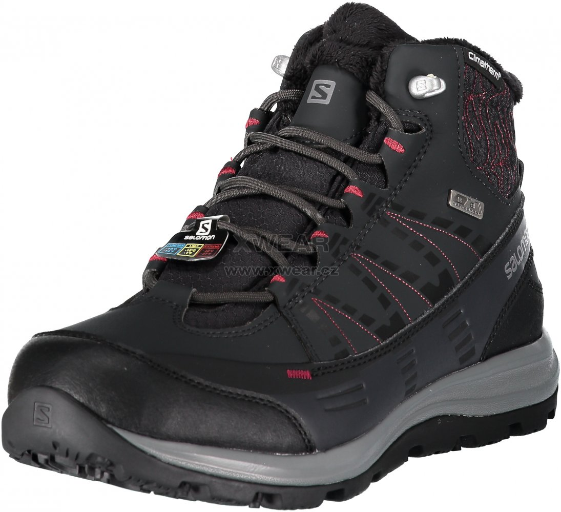 Dámské zimní boty SALOMON KAÏNA CS WP 2 L40472800 PHANTOM BLACK BEET ... 9e1928932a