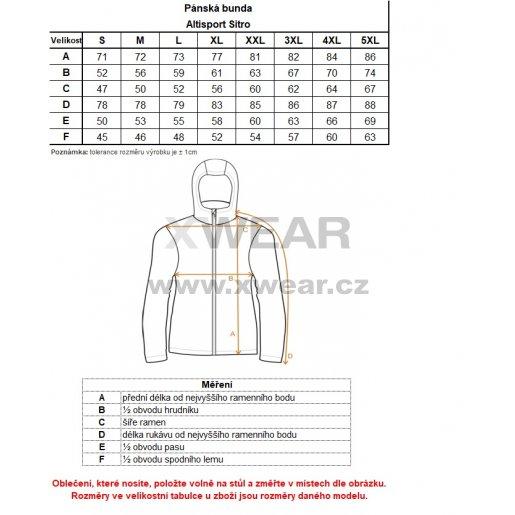 Pánská bunda ALTISPORT SITRO TMAVĚ MODRÁ