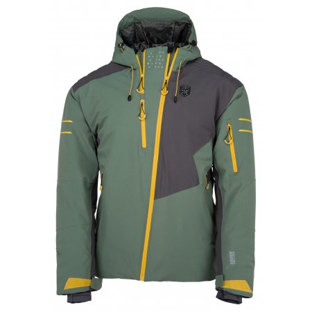 Pánská lyžařská bunda  KILPI ASIMETRIX-M JM0120KI KHAKI